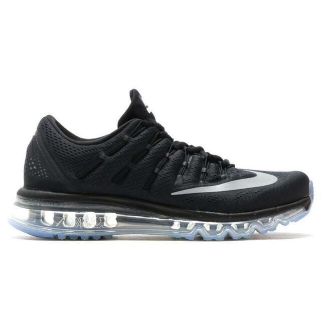 Mens Nike Air Max 2016 Premium Black Silver Running Shoes Retail Sz 15