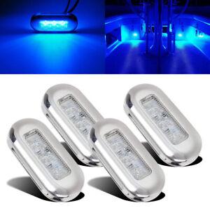 4pcs-12V-Blue-LED-Courtesy-Light-Yacht-Marine-Boat-Cabin-Deck-Lamp-Waterproof