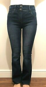 NEW MARKS /& SPENCER DARK-INDIGO PETITE SLIM BOOTLEG DENIM JEANS-SIZE 6-16