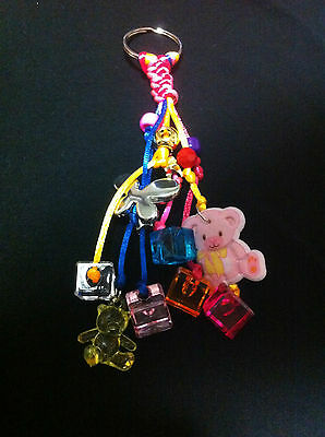 Multicolor HandCrafted Keychains party Favors For Baptism/Baby shower for Girl