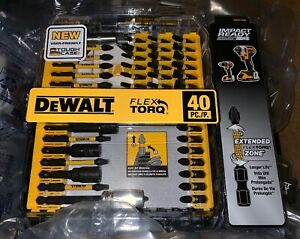 Screw Driving Set Impact Ready FlexTorq 40-Piece Drill Bits DEWALT DWA2T40IR New