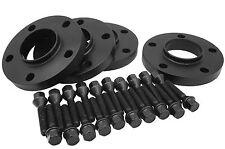 Black BMW Wheel Spacers [ 5x120mm | 12mm Thick ] W/ 20 Black Lug Bolts 12x1.5