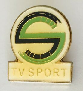 TV-Sport-Television-Brand-Advertising-Pin-Badge-Vintage-Rare-J2