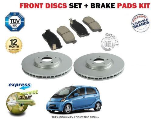 Pour Mitsubishi I trois i-MiEV 0,7 electric 6//2009 /& GT disques de frein avant pads set et disque