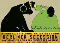 Lady Painting Bear 1901 Berlin Germany Art Expo Vintage Poster Repro Free Sh/usa