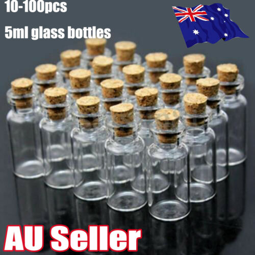 10100 Clear Mini Small Cork Stopper Tiny Glass Vial Jars Containers Bottle Bulk