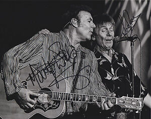 Marty-Wilde-amp-Joe-Brown-HAND-SIGNED-8x10-Photo-Autograph-Rock-n-Roll-Stars
