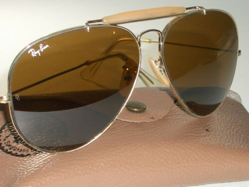 1980's 62[]14MM VINTAGE B&L RAY BAN B15 BROWN OUTD