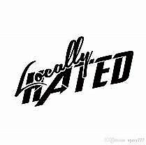 Locally Hated Windshield Decal Sticker Script JDM Race Drift Honda Acura Euro