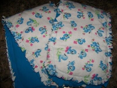 "Blue Horses Handmade Baby /""Rag/"" Burp Cloths Set of 2"