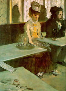 IN-A-CAFE-THE-ABSINTHE-DRINKER-ARTIST-PAINTING-REPRODUCTION-HANDMADE-OIL-CANVAS