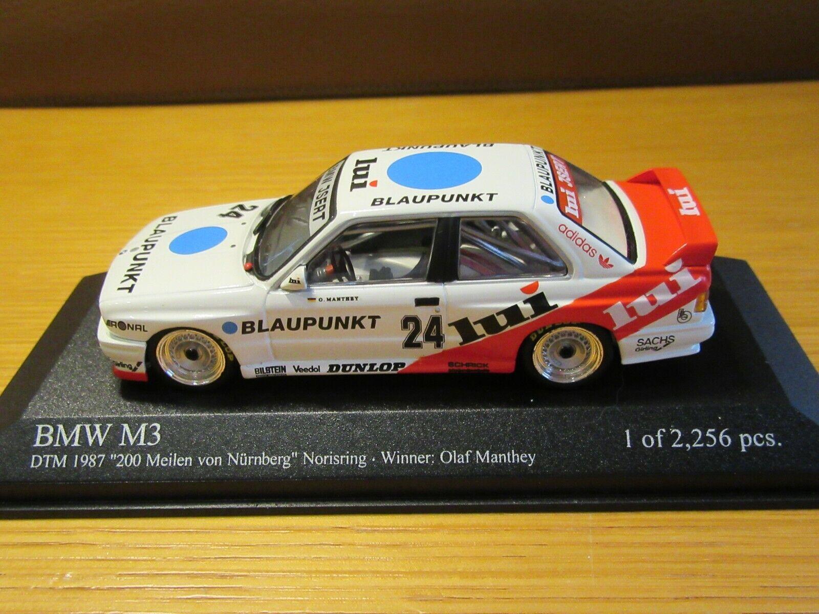 MINICHAMPS 430 87224 BMW M3 DTM 1987  LUI  OLAF MANTHEY