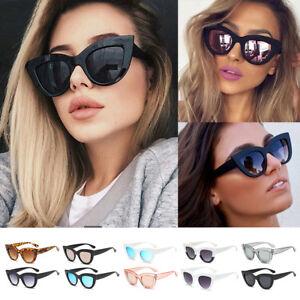 01ccb597b16d Image is loading Fashion-Cat-Eye-Sunglasses-Womens-Retro-Vintage-Shades-