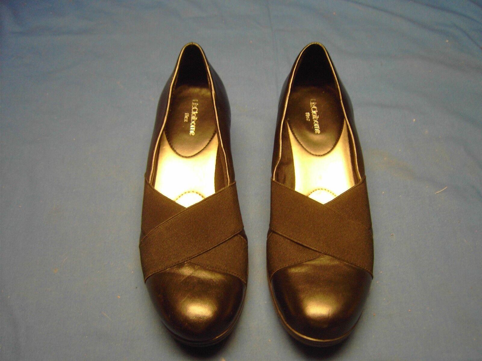 Liz Upper Claiborne SIMONE Leather Upper Liz Ladies Shoes Size 8M f0d236