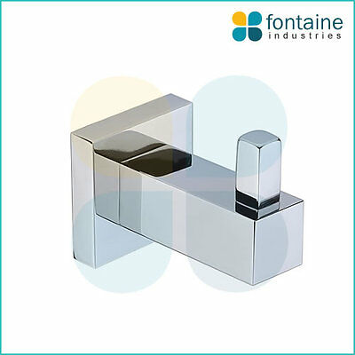 Towel Hook Chrome Square Robe Modern Bathroom