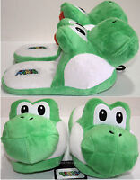 Super Mario Bros Japanese Green Yoshi Adult Slippers Plush House Shoes S-l