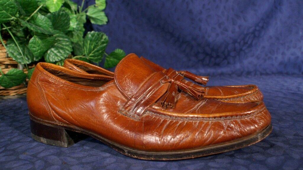 Vintage FLORSHEIM DESIGNER Chestnut Tassel Loafers 12D