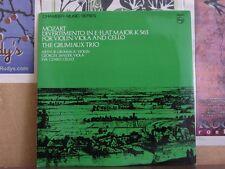 MOZART DIVERTIMENTO K 563, GRUMIAUX TRIO LP 802 803 LY