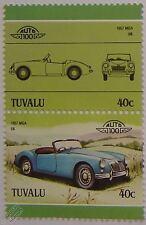 1957 MG / MGA Car Stamps (Leaders of the World / Auto 100)