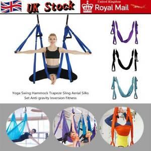 Yoga Swing Hammock Trapeze Sling Aerial Silks Anti-gravity Inversion Kit U Nice