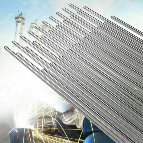 10PCS 33cm 2.0mm Solution Welding Flux-Cored Rods Aluminum Wire Brazing Tools UK