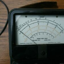 Vintage Simpson Made In Chicago 260 Multimeter With Leads Not Tested