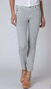 AG-Adriano-Goldschmied-The-Stevie-Polka-Dot-Gray-White-Ankle-Jeans-Size-26