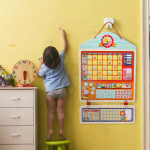 KIDS-WOODEN-MAGNETIC-REWARD-ACTIVITY-RESPONSIBILITY-CHART-SCHEDULE-EDUCATION-TOY
