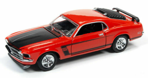 1969 Ford Mustang Boss 302 red ** RR ** racing Champions 1:64 OVP