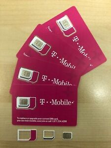 NEW-T-Mobile-4G-LTE-SIM-CARD-Triple-cut-Mini-Micro-Nano-FITS-ALL-PHONES