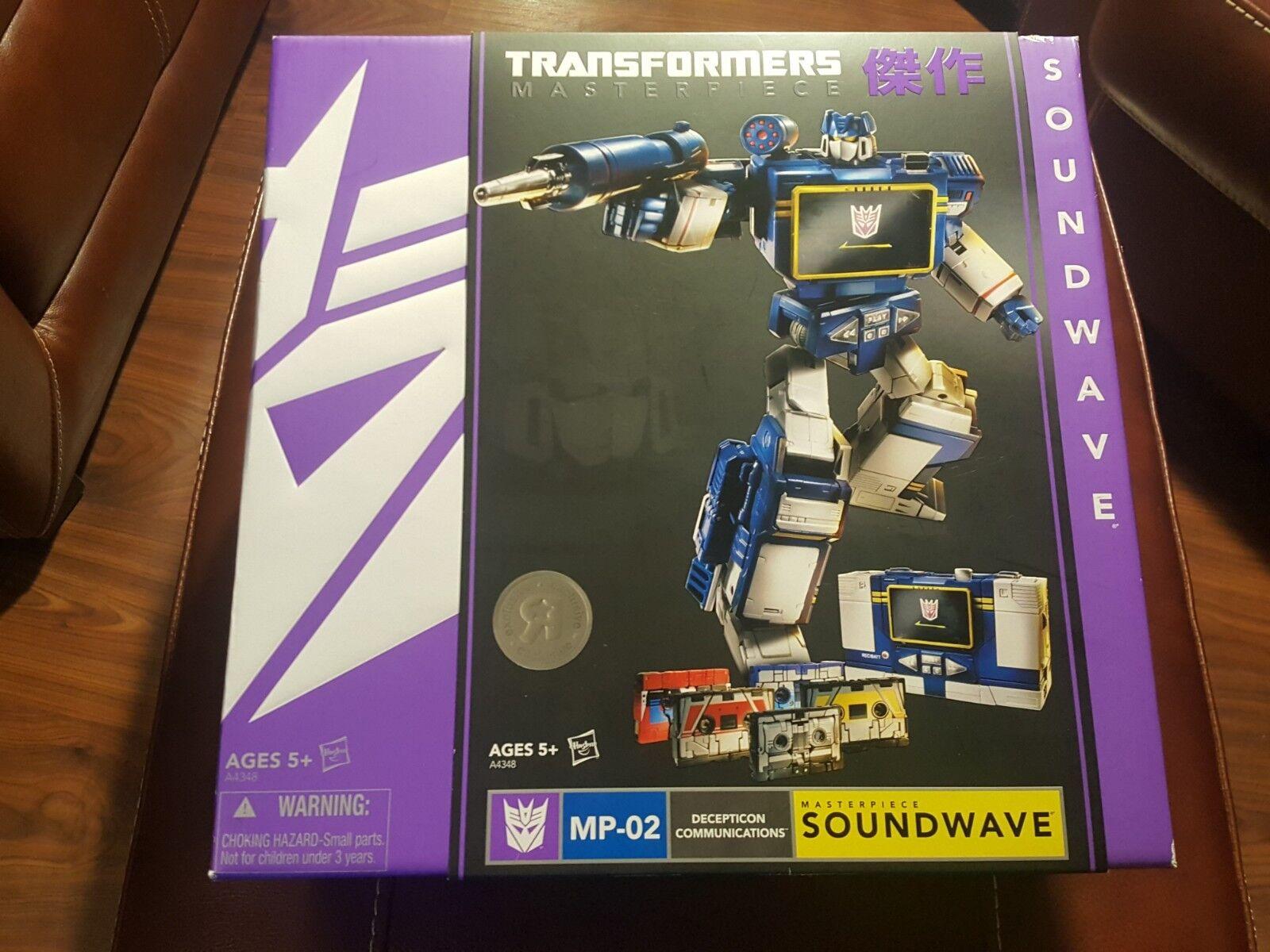 Transformers Masterpiece Soundwave MP-02 Decepticon Juguetes R TRU exclusivo menta en Sellado US Caja