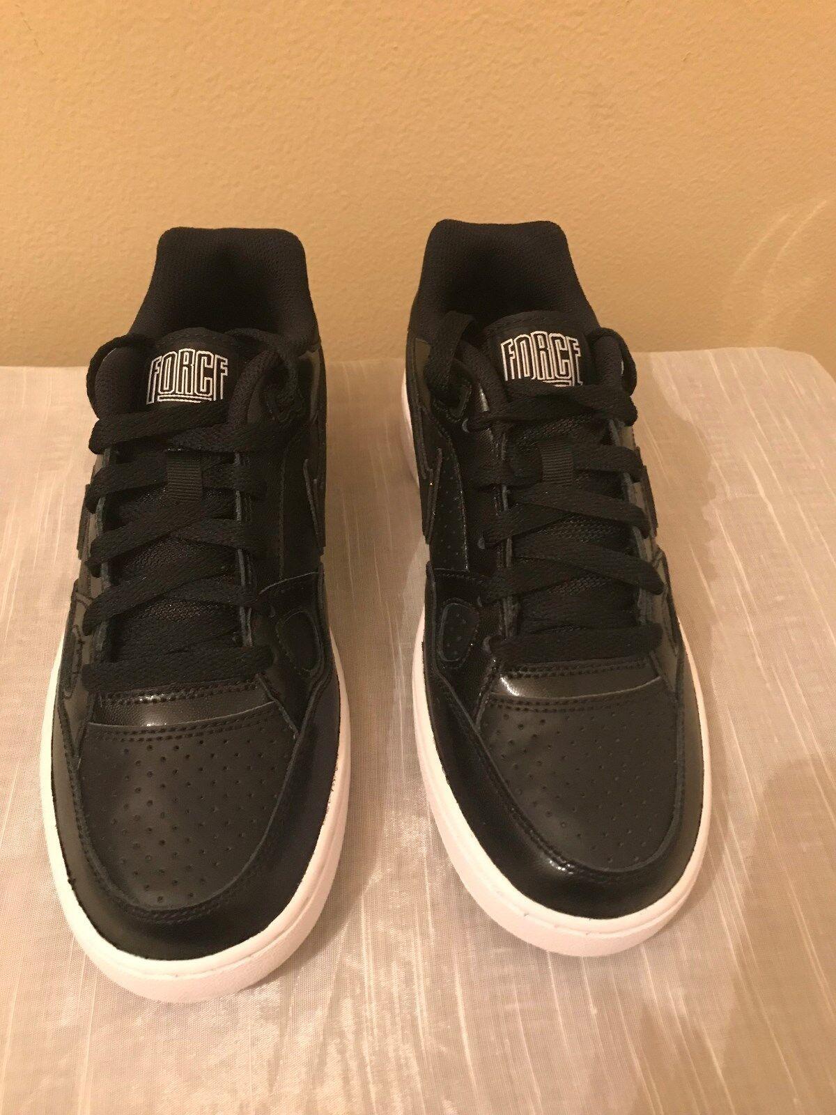 Women's Black Nike Nike Nike Son Of force Low Top Leather Sneaker Size 8 M 01456f