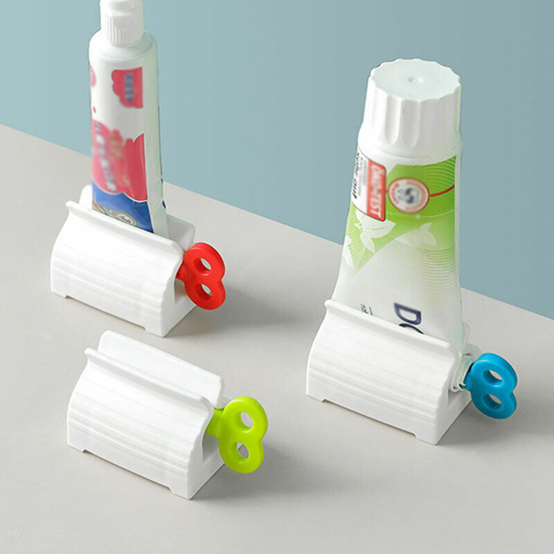 Rolling Toothpaste Tube Squeezer polygel Easy Dispenser Seat Holder Stand UK