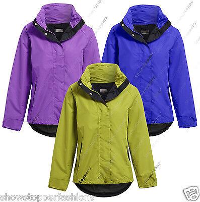NEW WATERPROOF Coat Ladies Raincoat Womens Festival Jacket Plus Size 18 20 22 24