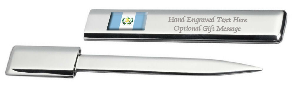 Guatemala Drapeau Engraved Post Lettre Bottle Opener Étui