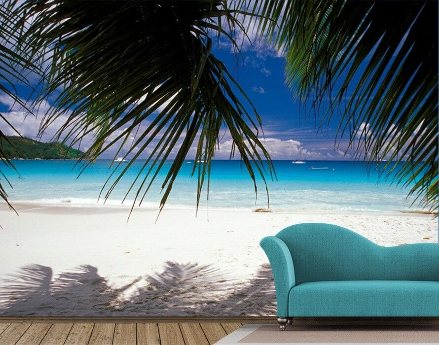 254x183cm Large Wall mural photo wallpaper for living room Weiß sandy beach