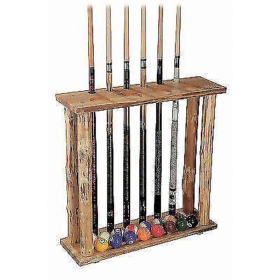 Pool Cue Rack Wood 6 Sticks Stand Billiard Standing Hold