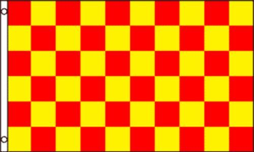 """/""""RED /& YELLOW CHECKER/"""" flag 3x5 ft polyester race racing check"""