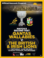 AUSTRALIA v BRITISH & IRISH LIONS 2nd TEST 2013 RUGBY PROGRAMME MINT CONDITION