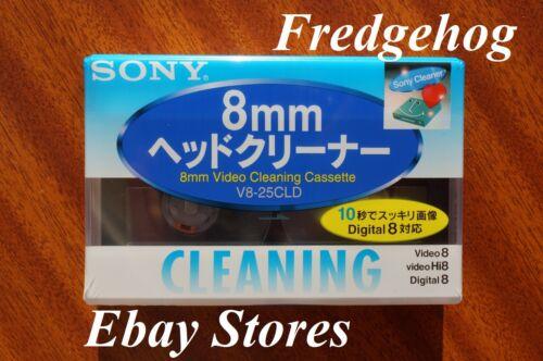 SONY 8mm//Hi8//Videocámara Digital 8 Cabeza Limpiador//cinta De Limpieza//Cassette V8-25CLD