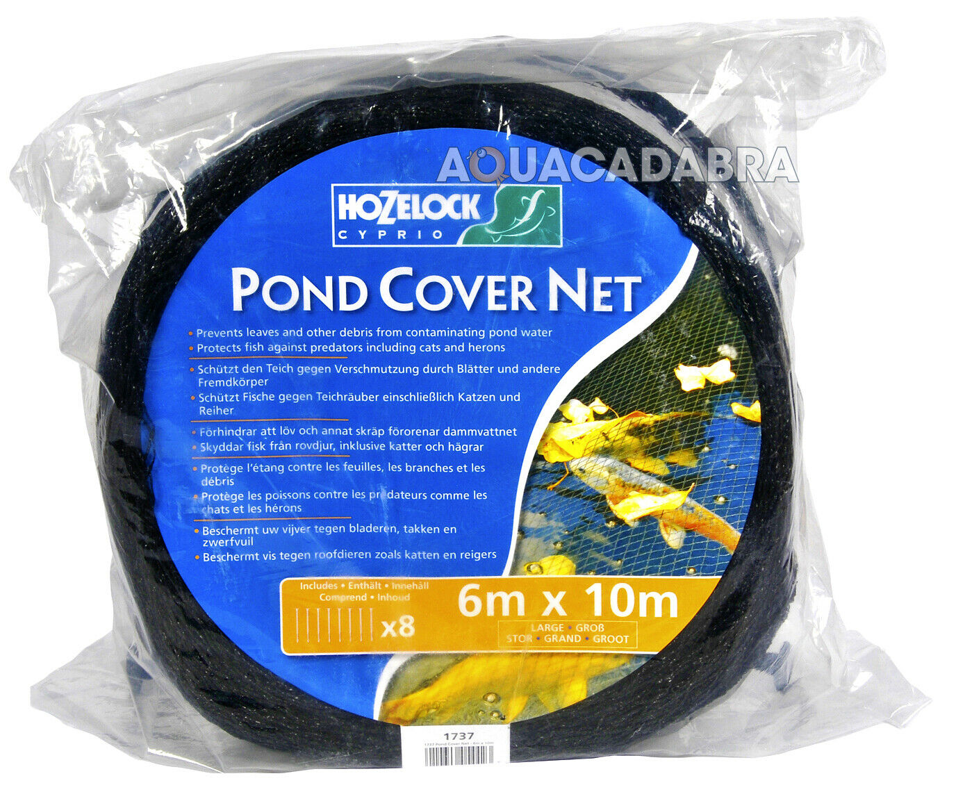 HOZELOCK 1730 pond couverture net 3m x 2m Bassin Koi Fish