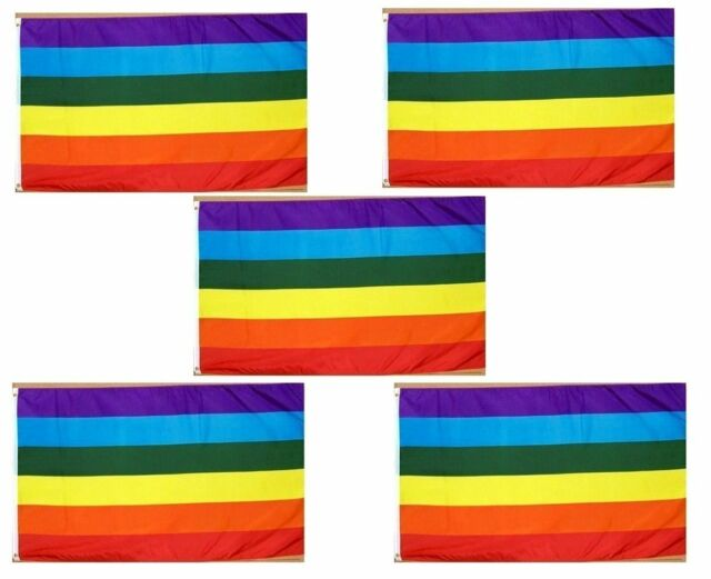 3x5 Rainbow Gay Lesbian LGBT Flag 3/'x5/' House Banner grommets super polyester