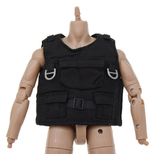 "1//6 Scale Model  Doll Black Tactical Bulletproof Vest Body Armor for 12/"" Figure"