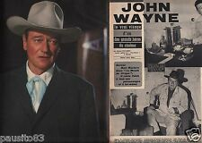 Coupure de presse Clipping 1963 John Wayne (4 pages)