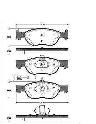 plaquette de frein avant 4 disques de Frein arrière Fiat Barchetta 1.8 16v freins-set