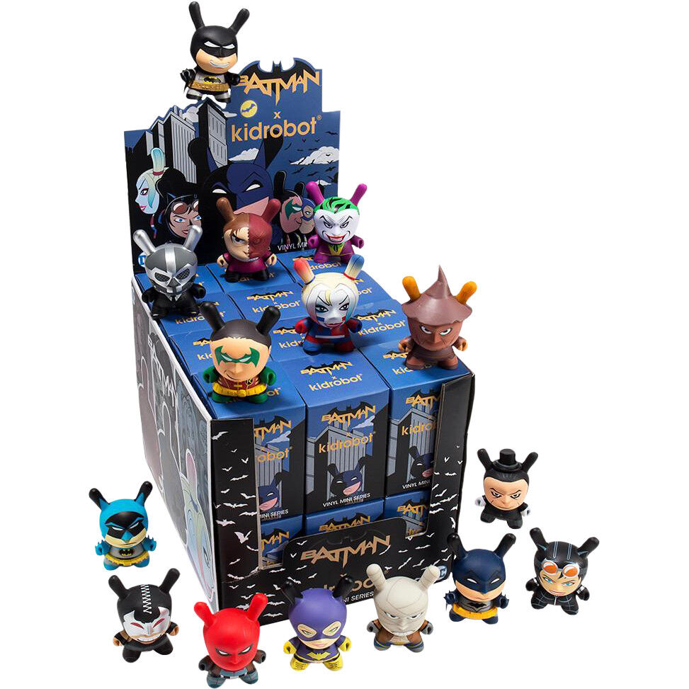 "Dunny - Batman Dunny Mini Series Blind Box 3"" Vinyl Figure Display (24 Units)"