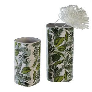 1 X Vase Grennery Weiss Grun Hohe 26 Cm F Blumen Tischdeko Ebay