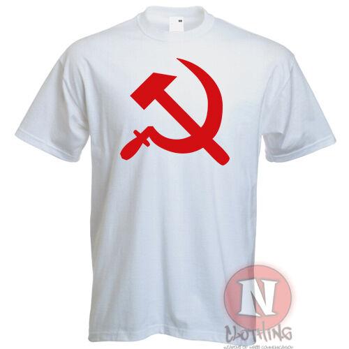 Marteau et Faucille Style Rétro USSR Communiste Russe Guerre Froide T-Shirt