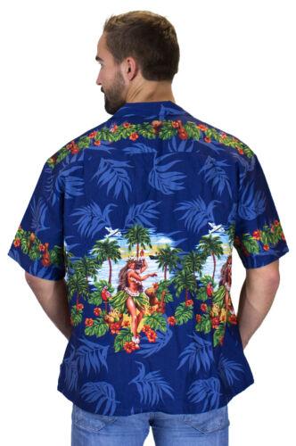 Camicia Ky's Hula Hawaiana Blu Original FYxw1qW5w7