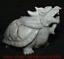 """miniature 8 - 9,6 """"Dushan Jade Sculpture Feng Shui Dragon Tortue Tortue Statue De Richesse"""